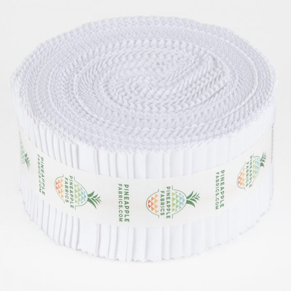 White Solid - 2.5 Strips - Pineapple Fabrics