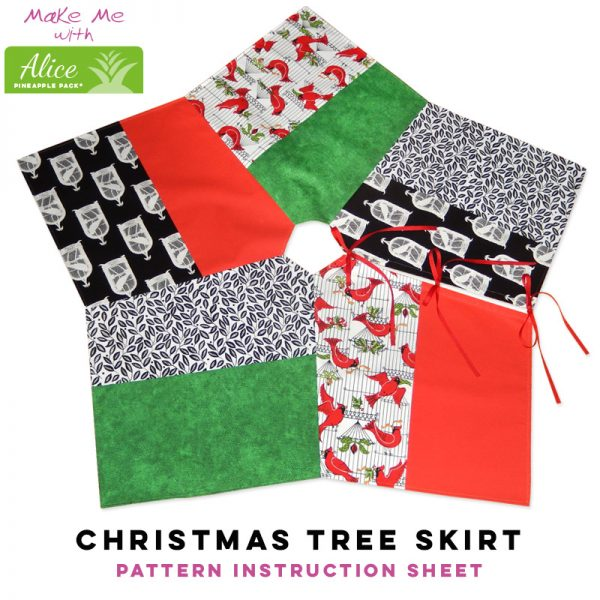 Christmas Tree Skirt - Alice Pineapple Pack Pattern