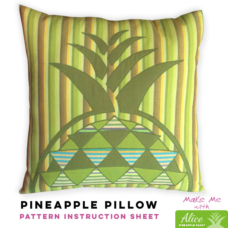 Pineapple Pillow - Alice Pineapple Pack Pattern