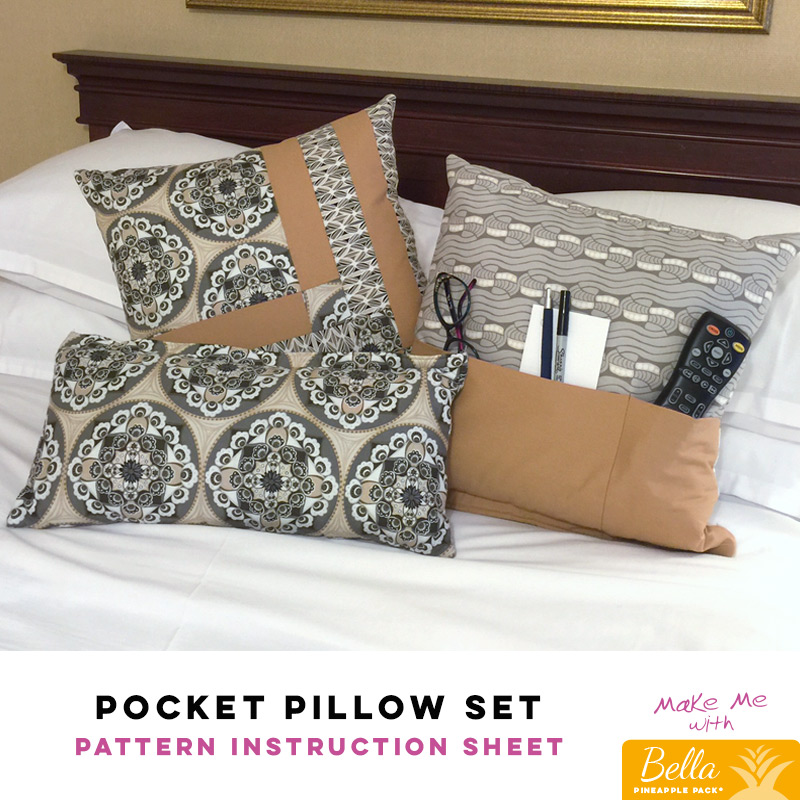 Pocket Pillow Set Bella Pineapple Pack Pattern