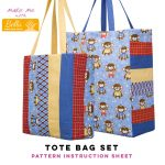 Tote Bag Set - Bella Pineapple Pack Pattern
