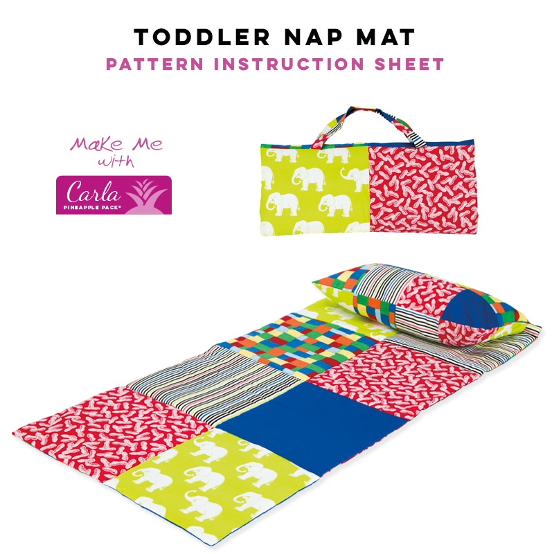 Toddler Nap Mat Carla Pineapple Pack Pattern Pineapple