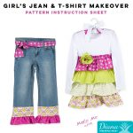Girl's Jean & T-Shirt Makeover - Diana Pineapple Pack Pattern