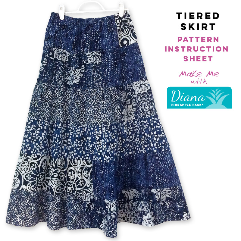 Tiered Strip Skirt Diana Pineapple Pack Pattern