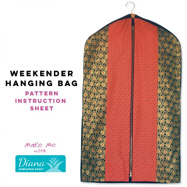 Weekender Hanging Bag - Diana Pineapple Pack Pattern