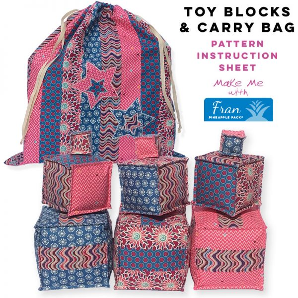 Toy Blocks & Carry Bag - Fran Pineapple Pack Pattern