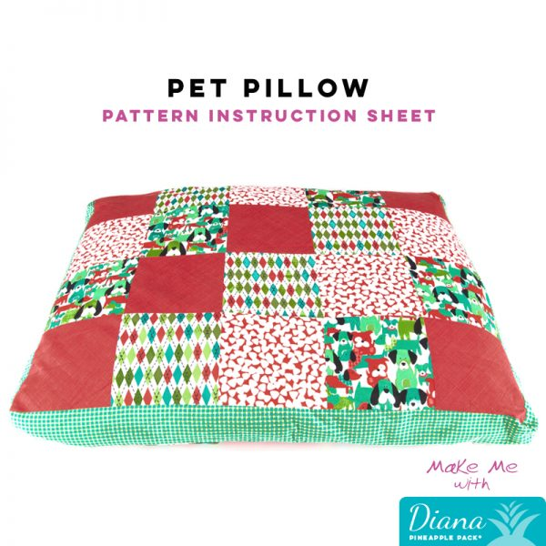 Pet Pillow - Diana Pineapple Pack Pattern