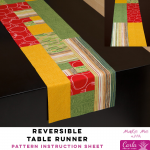 Reversible Table Runner - Carla Pineapple Pack Pattern