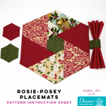 Rosie-Posey Placemats - Diana Pineapple Pack Pattern