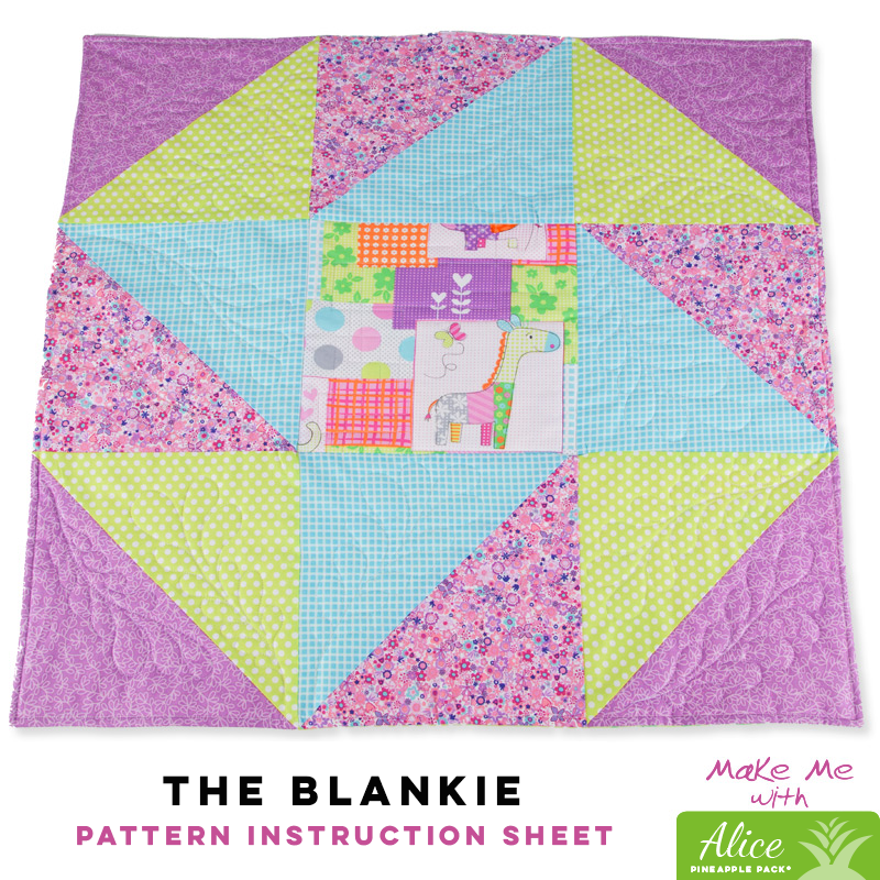 The Blankie - Alice Pineapple Pack Pattern
