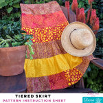 Tiered Strip Skirt - Diana Pineapple Pack Pattern