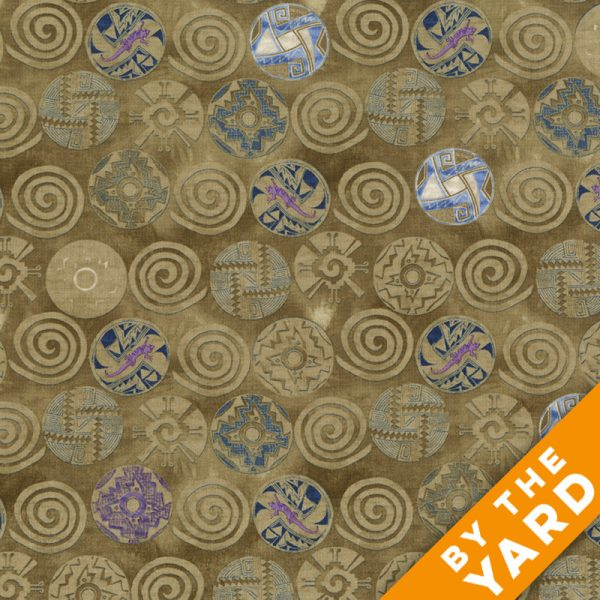 Timeless Treasures - Kathleen - C4962 - Earth - Fabric By the Yard
