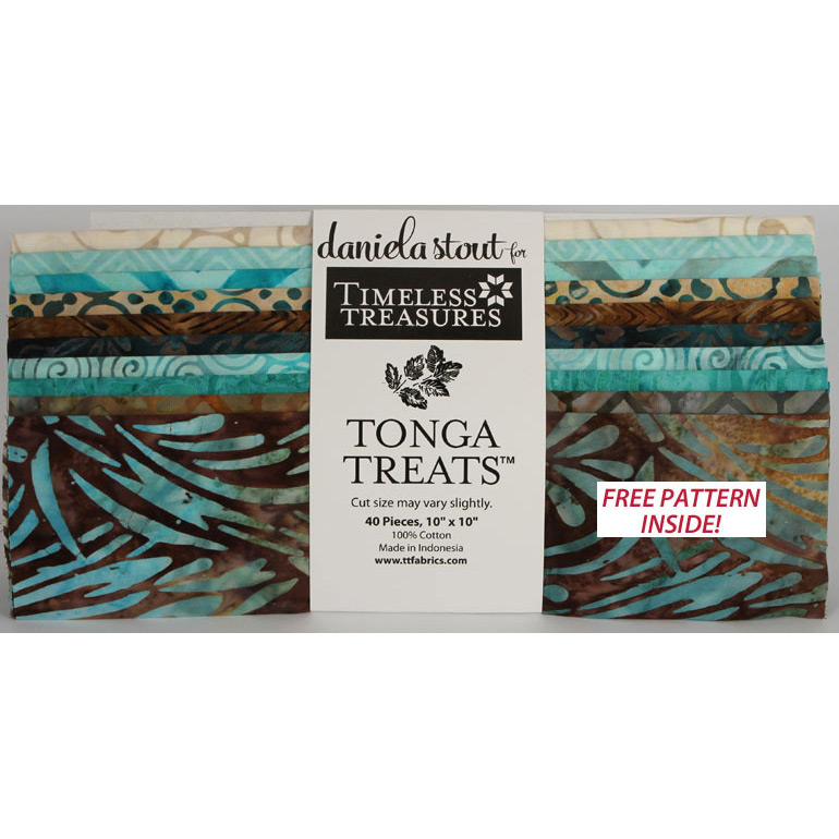 Timeless Treasures Tonga Treats Batik 10 Square Pack