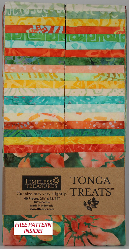Timeless Treasures Tonga Treats Batik 2 5 Strip Pack