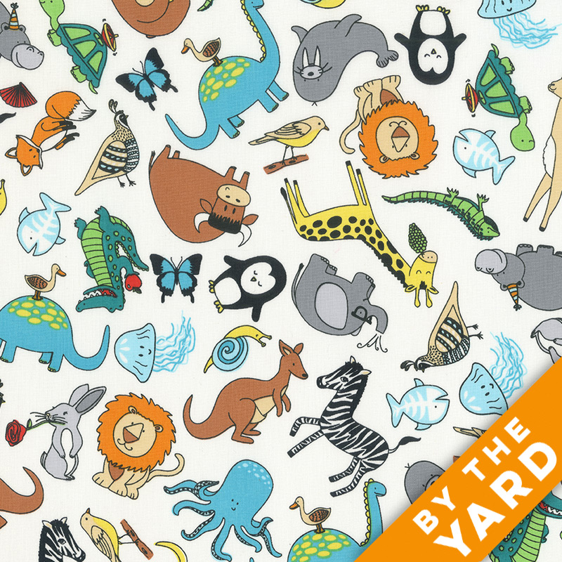Windham - Animal ABC's - 41323-X - Fabric by the Yard