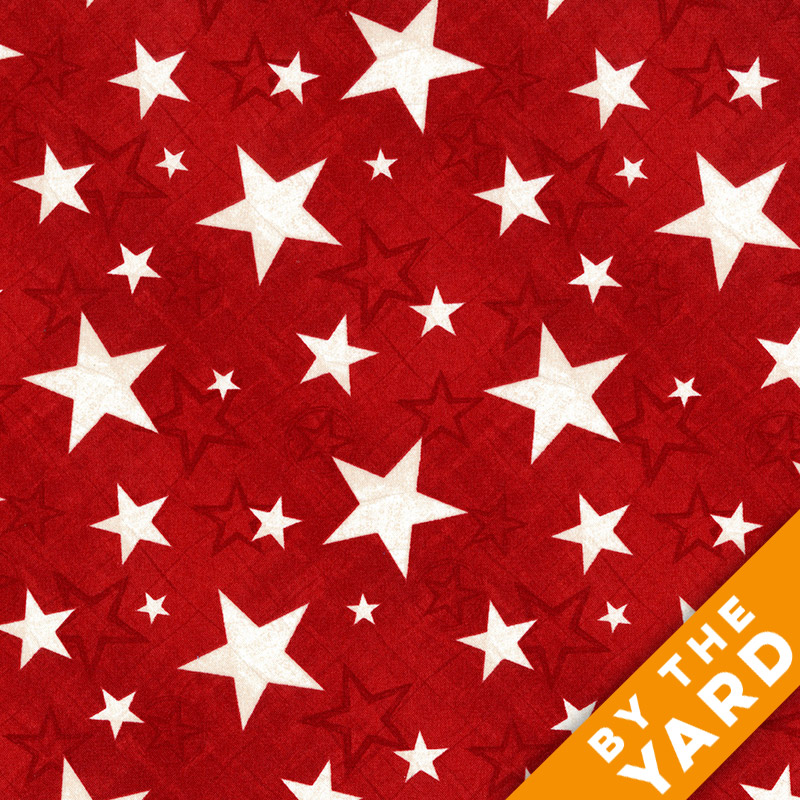 Wilmington Prints - Stars Red - 1828-82467-311 - Fabric by the Yard