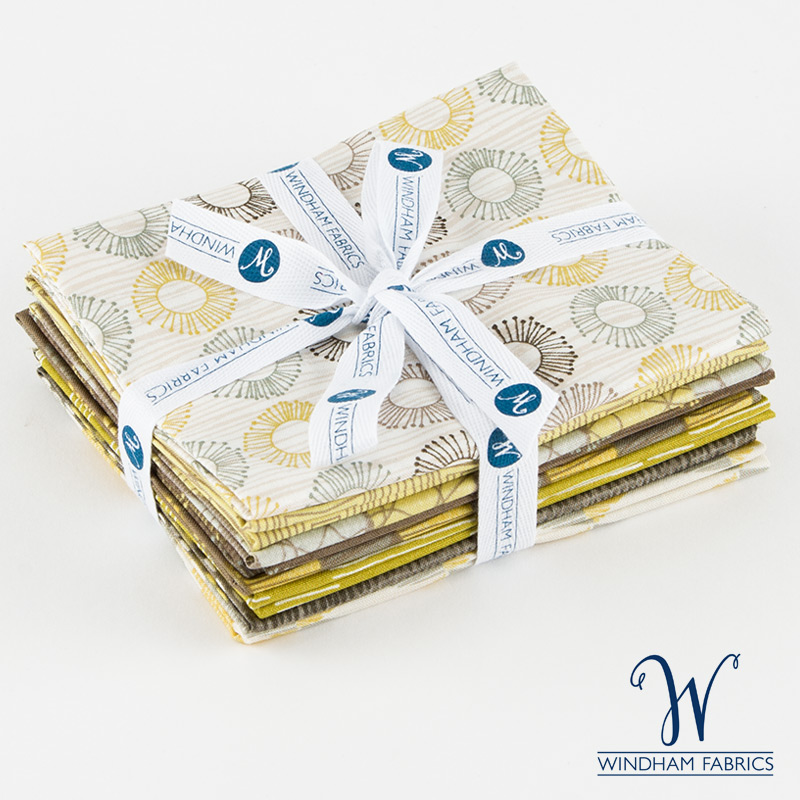 Brown and Yellow - Fat Quarter Bundle - Windham Fabrics - 8 pieces