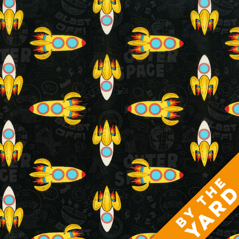 Windham - Sock Monkey In Space - 41170 - Fabric by the Yard