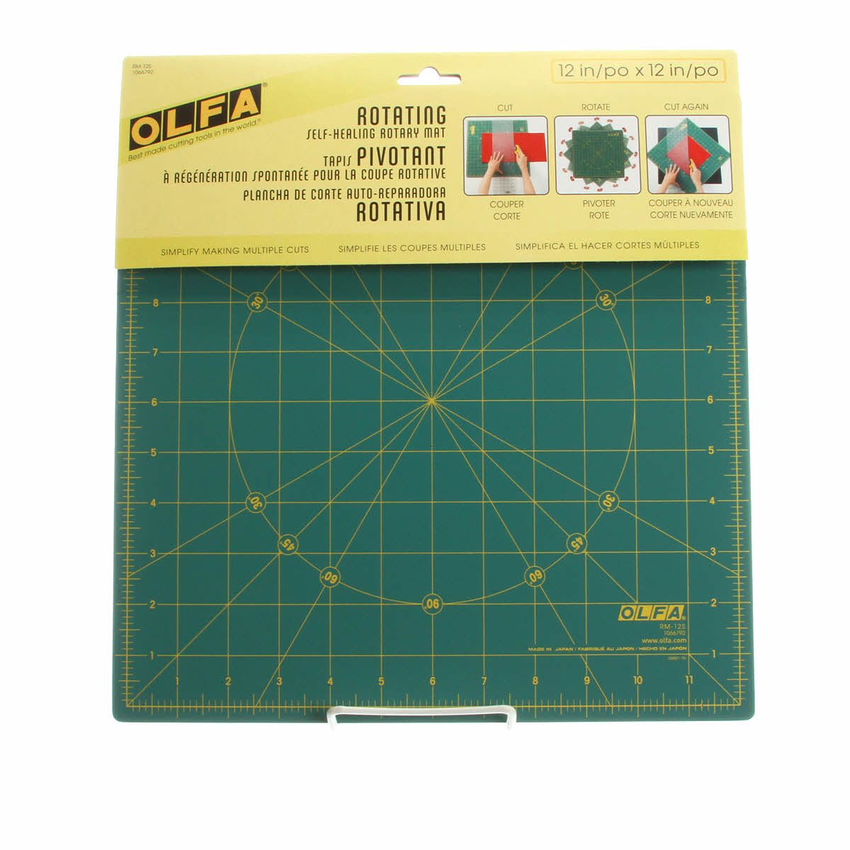 RM-12S -  Spinning Square Cutting Mat 12in by Olfa