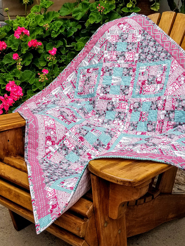 Nine Patch On Point Quilt Bella Pineapple Pack Pattern