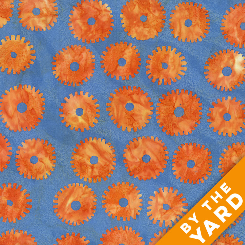 Artisan by Kaffe Fassett - Batik - Saw Circle - Orange - By the Yard