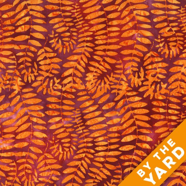 Artisan by Kaffe Fassett - Batik - Fronds - Grape - By the Yard