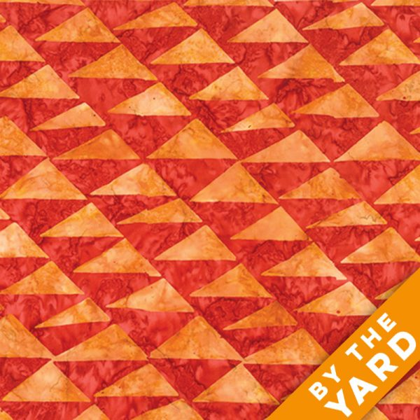 Artisan by Kaffe Fassett - Batik - Flags - Orange - By the Yard