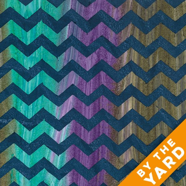 Artisan by Kaffe Fassett - Batik - Lightening - Navy - By the Yard