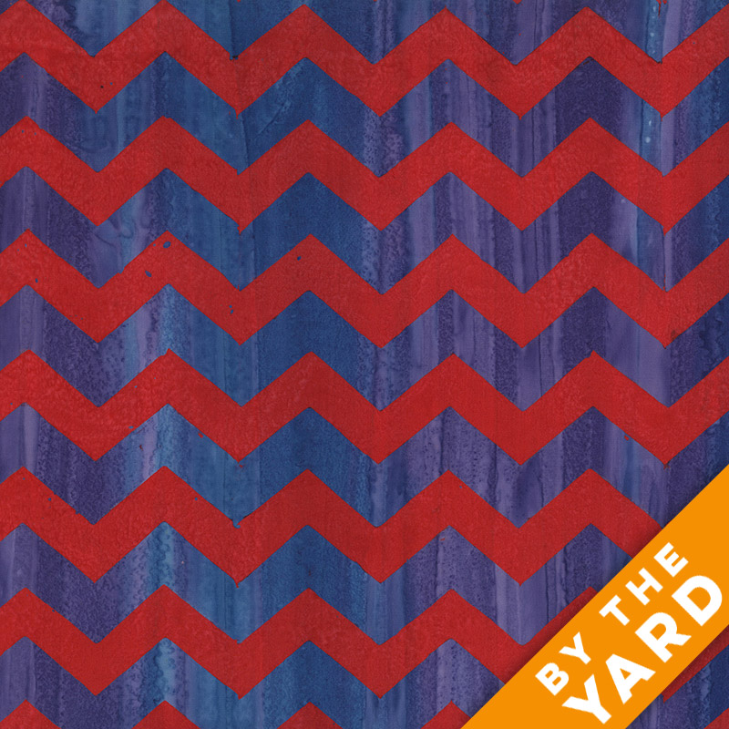 Artisan by Kaffe Fassett - Batik - Lightening - Red - By the Yard