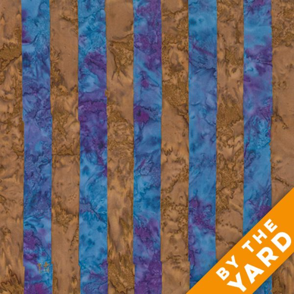 Artisan by Kaffe Fassett - Batik - Big Stripe - Blue - By the Yard