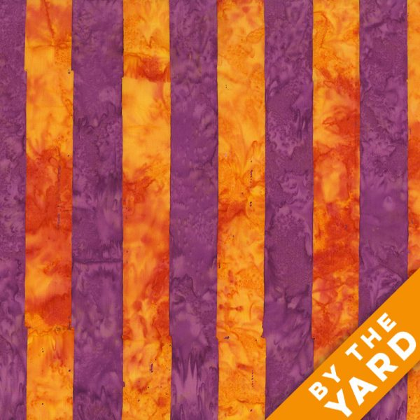 Artisan by Kaffe Fassett - Batik - Big Stripe - Orange - By the Yard