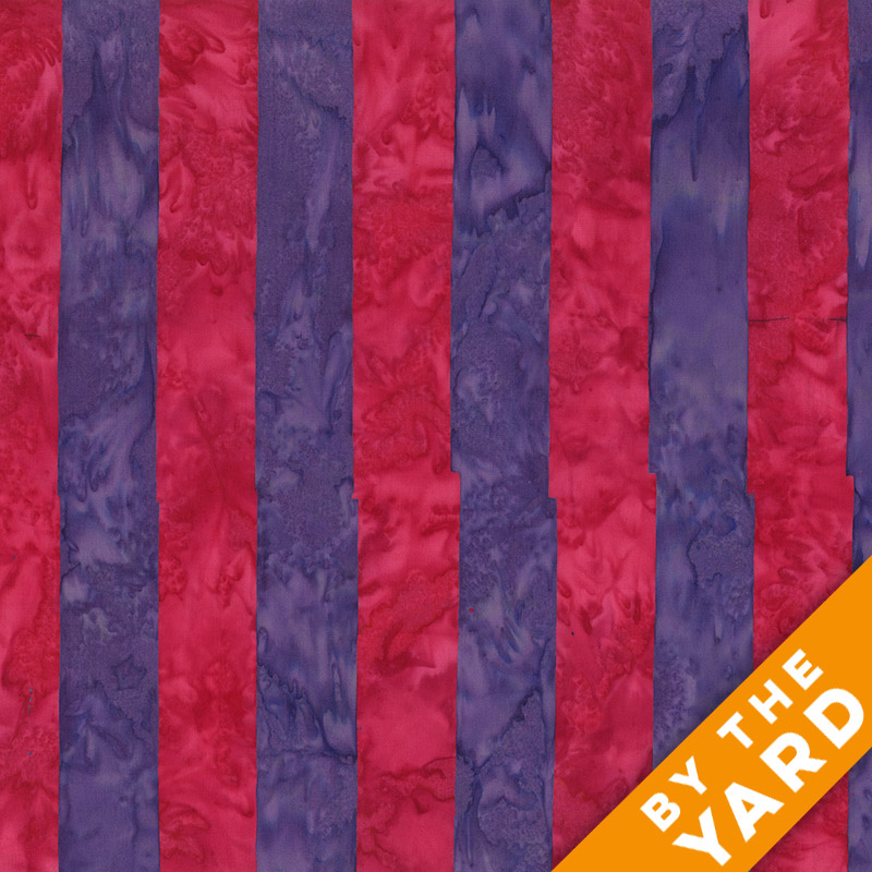 Artisan by Kaffe Fassett - Batik - Big Stripe - Red - By the Yard