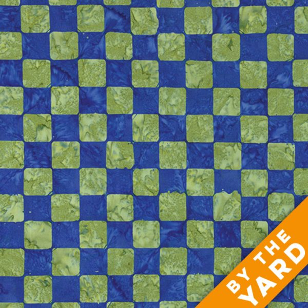 Artisan by Kaffe Fassett - Batik - Chess - Cobalt - By the Yard