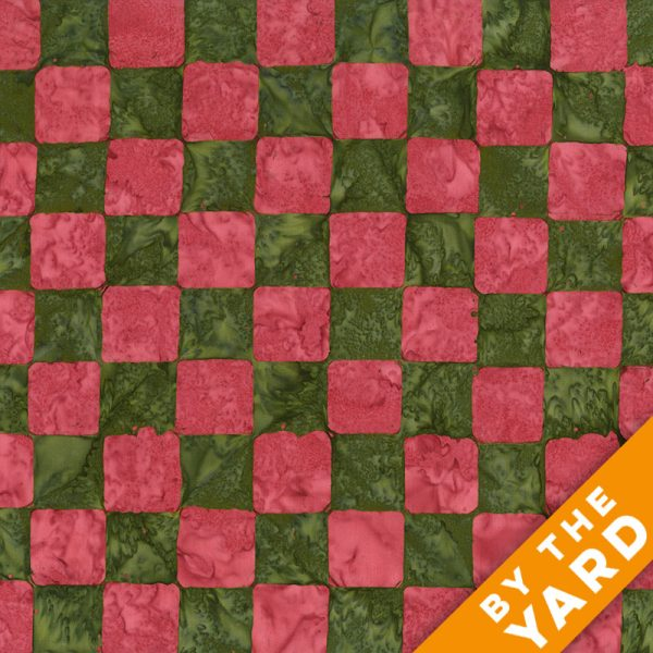 Artisan by Kaffe Fassett - Batik - Chess - Green - By the Yard