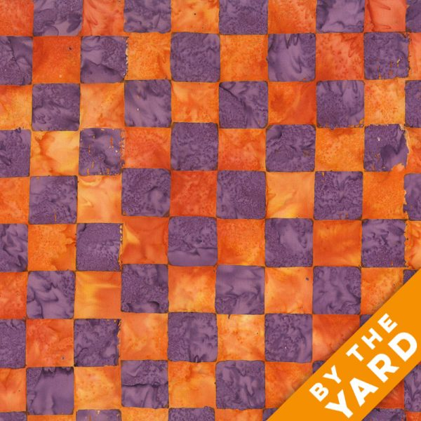 Artisan by Kaffe Fassett - Batik - Chess - Lilac - By the Yard