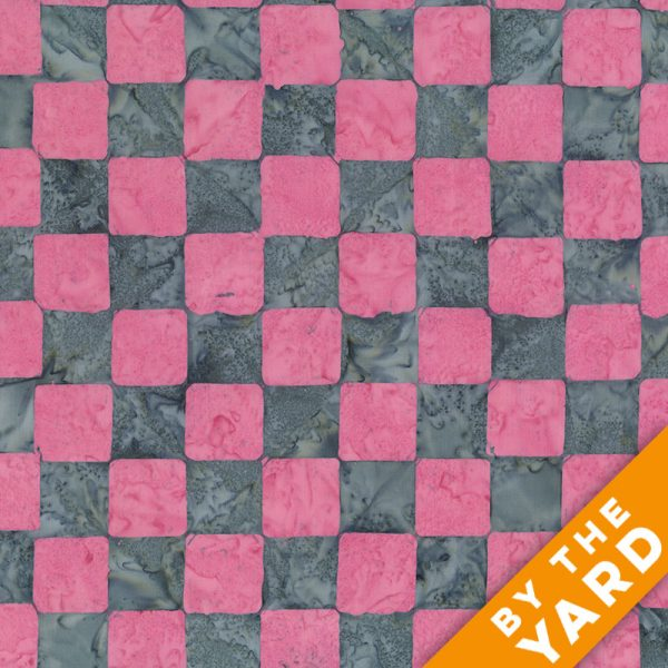 Artisan by Kaffe Fassett - Batik - Chess - Pink - By the Yard