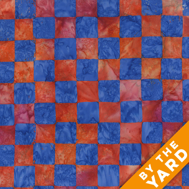 Artisan by Kaffe Fassett - Batik - Chess - Red - By the Yard