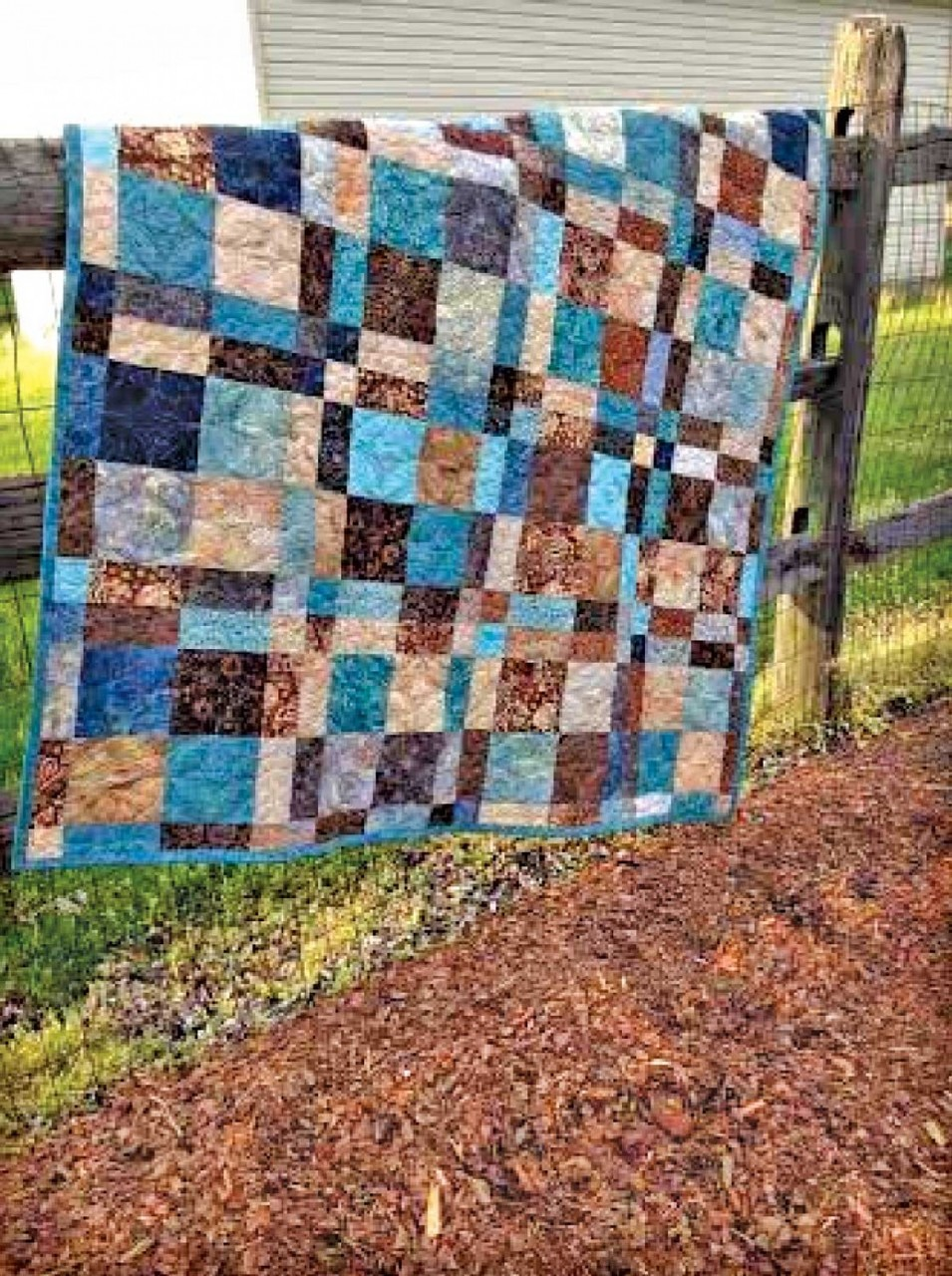 Clpgrg008 Double Four Patch Throw Quilt Pattern By Cut Loose Press