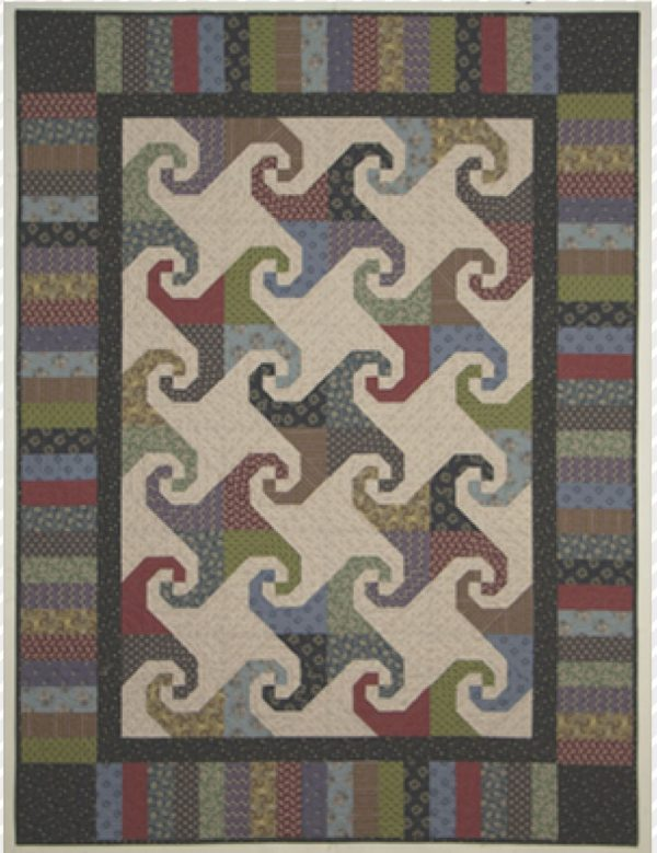 CLPLRB001 - Spinning Snails - Happy Trails Quilt Pattern by Cut Loose Press