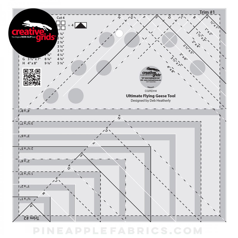 CGRDH4 - Creative Grids Ultimate Flying Geese Template and Quilt Ruler