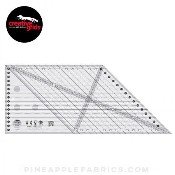CGREU2 - Creative Grids 45 Degree Diamond Dimensions Quilt Ruler