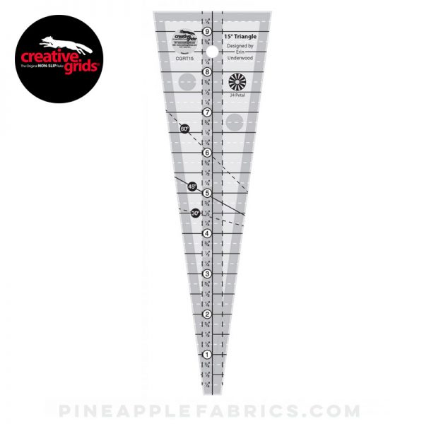 CGRT15 - Creative Grids 15 Degree Triangle Ruler