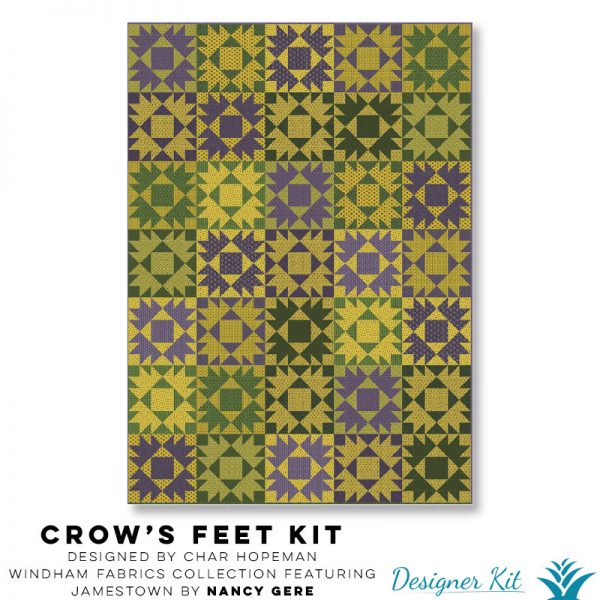 Crow's Feet Designed by Char Hopeman  A Windham Fabrics collection featuring Jamestown by Nancy Gere - Designer Kit
