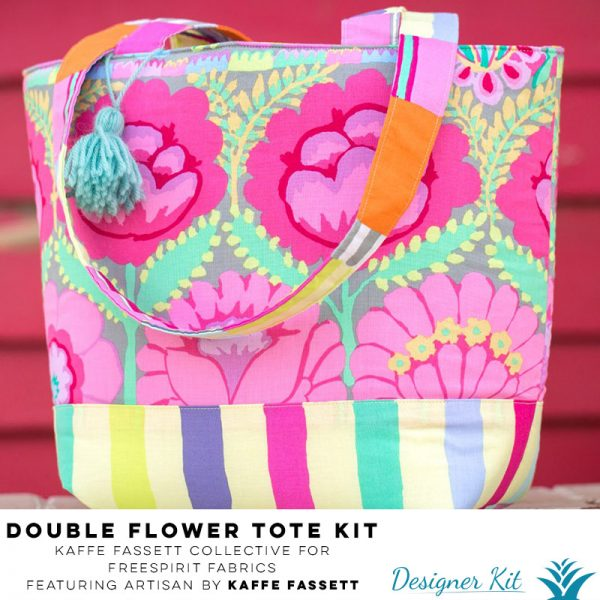 Double Flower Tote Kaffe Fassett Collective for FreeSpirit Fabrics featuring Artisan by Kaffe Fassett - Designer Kit