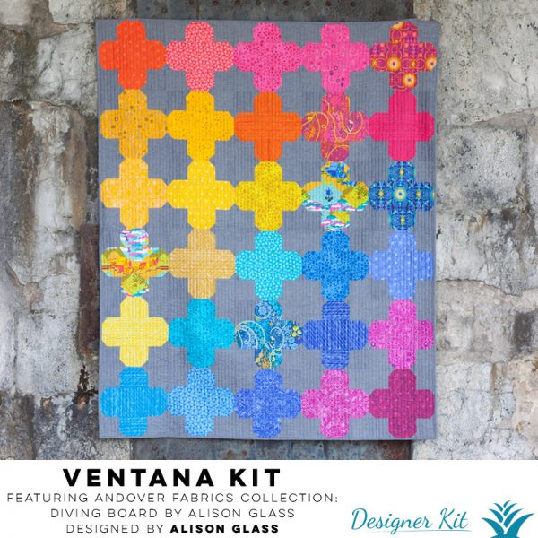 Ventana Featuring Andover Fabrics Collection: Diving Board by Alison Glass Designed by Alison Glass - Designer Kit