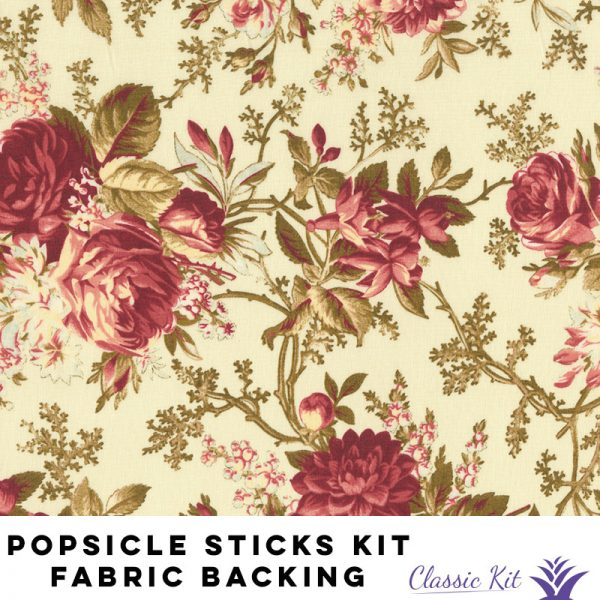 Popsicle Sticks Lap Quilt Classic Kit - 5 yards fabric backing