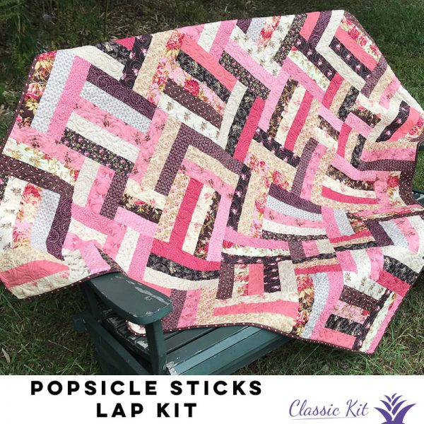 Popsicle Sticks Lap Quilt - Classic Kit