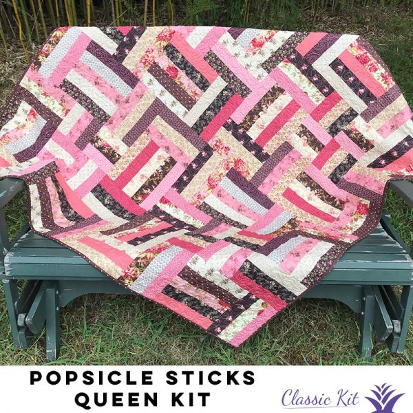 Popsicle Sticks Queen Quilt - Classic Kit