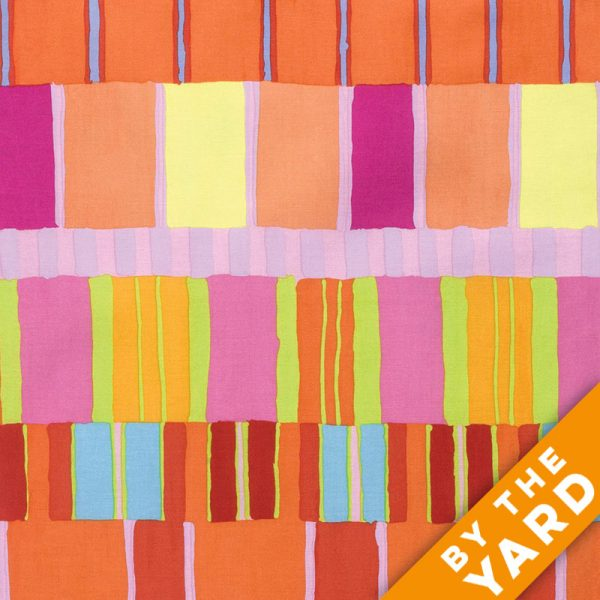 Artisan by Kaffe Fassett  - Layered Stripe - Orange - By the Yard