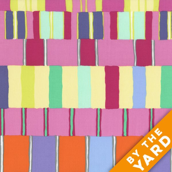 Artisan by Kaffe Fassett  - Layered Stripe - Pink - By the Yard